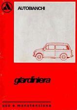 CD LIBRETTO USO e MANUTENZIONE AUTOBIANCHI 500 GIARDINIERA-FIAT Tipo120 1974