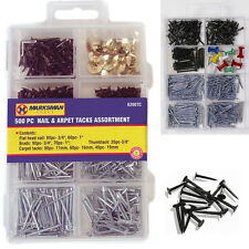 500 agrafes Assortiment Tapis ongles ongles BRADS thumbtack rembourrage DIY-tireur