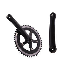 48T X 170mm Single Speed Fixie Fixed Gear Cycling black Bicycle Crank Set