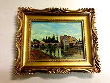 Bilderrahmen Gemälde  33x28 Antik BAROCK Rechteckig Bild  LEINWAND