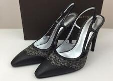 New Bottega Veneta Bellagio Slingback Fabric Ayers Snakeskin Pumps 8.5 / 38.5
