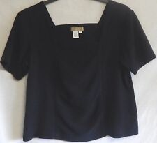 Size XL 16/18 Black Short-Sleeve Cotton Spandex Top The Territory Ahead Brand