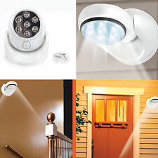 360°Rotation Wireless Indoor Sensor Lights 7 LED Security Safety Lamp Garden New