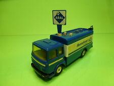 SIKU V331 MAN 8 156F TRUCK ARAL RENNDIENST TANK SERVICE - BLUE 1:55? - GC