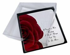 4x 'If Grandma's Were Roses' Picture Table Coasters Set in Gift Box, GRA-R4C