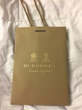 Authentic Burberry Paper Shopping Bag, Empty