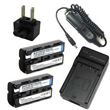 Charger +2x Battery for NP-F550 SONY CCD-TRV49 CCD-TRV58 CCD-TRV68 Hi8 Camcorder