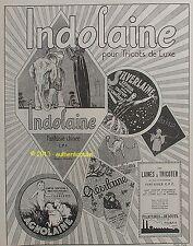 PUBLICITE INDOLAINE AGNOLAINE TRICOT CROCLHET LAINE A TRICOTER DE 1924 FRENCH AD