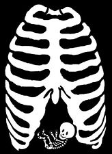 HALLOWEEN BABY RIBCAGE IRON ON TRANSFER A4 PREGNANCY HALLOWEEN BABY DESIGN A4