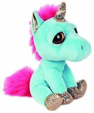 Lil Peepers Twinkle Blue Unicorn Plush Toy with Silver Sparkle Accents