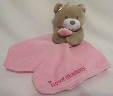 Magic Years Pink Bear I Love Mommy Security Blanket Rattle Lovey Girl Baby Hugs