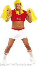 Mens Female American Cheerleader Stag Do Fancy Dress Costume Outfit Size Large
