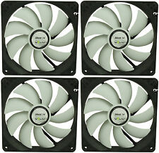 4 X Gelid Solutions Silent 14 140mm Funda Fans 1000 Rpm, 64 Cfm, 21,0 dBA