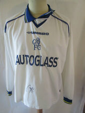 Gus Poyet 1999-2001 Chelsea Away Football Shirt with COA 34399