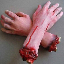 POP Bloody Horror Scary Halloween Prop Fake Severed Lifesize Hand Party Decor
