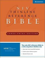 NIV Thinline Reference Bible by Zondervan Staff (2005, Hardcover, Large Type)