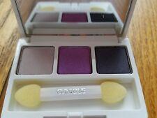 Clinique eyeshadow trio in violets