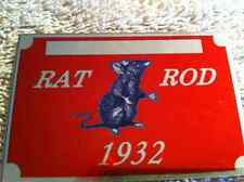 1932 RATROD PLATE chevy ford buick plymouth dodge rat rod info data id plate VIN