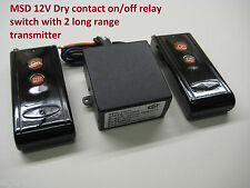 MSD 12V DC dry contact on off relay switch & 2 long range remote control RP100P2
