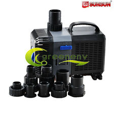 2110 GPH Submersible Pond Pump Adjustable Inline Fountain Waterfall Koi Filter