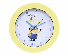 "OFFICIAL NEW 10"" DESPICABLE ME 2 CHILDRENS MINION WALL CLOCK KID BEDROOM CLOCK"