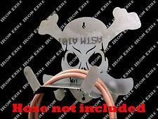 Skull & Bones Air Hose Holder Reel Garage Shop Hot Rat Rod Trailer Xmas Gift
