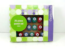 Creative Works 26 PC Punch Set Alphabet 3/8 inch Letters Crafts Scrapbooking