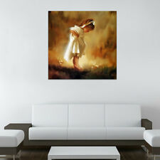 Unframed HD Canvas Print Home Decor Wall Art Picture Poster Cute Barefoot Girl