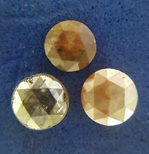 0.69TCW 3.5-4.0MM Gray red mix color Round Rose cut Loose Natural diamond 3 PCS
