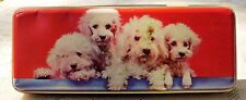 VINTAGE HENRY THORNE & CO PREMIER TOFFEE TIN W/ TOY POODLES ON LID - ENGLAND*