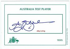 ANDY BICHEL      AUSTRALIAN TEST CRICKETER    SIGNED CARD UNDEDICATED