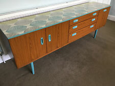 Upcycled Vintage Retro Schreiber Mid Century Painted 2m long Storage Sideboard