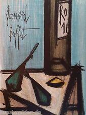 BUFFET Bernard (1928-1999) Original Lithographie 1967 : Stilleben mit Flasche