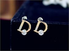 Boucles d'Oreilles D Dior J'Adore Miss Poison Swarovski Cristal Or Gold Earrings