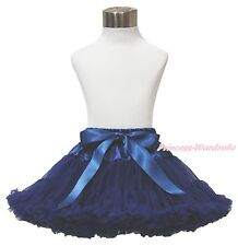 Sailor Navy Blue Adult Woman Girls Pageant Full Chiffon Party Tutu Pettiskirt