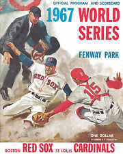 1967 World Series - (Cardinals & Red Sox) Program Poster - 8x10 Color Photo