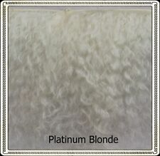 "Mohair Weft  PLATINUM BLONDE,  3"" - 4"" X 36""   Ideal for Reborn dolls"