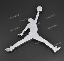 Car Rear Side 3D Silver Metal Decal Sticker Jordan Jumpman Car Logo Badge Emblem