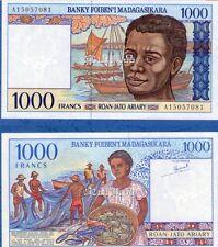 Madagascar 1993 year 1000 Francs BrandNew Banknotes