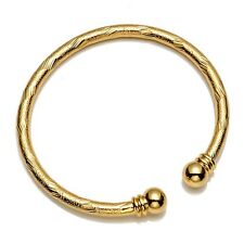 New Arrival 18k Yellow Gold Filled Open Bangle Women Bracelet Charms Gift hot