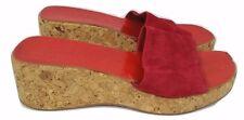 Boden zapatos talla 7 Cuñas Sandalias Rojo Con Puntera Abierta De Corcho Antideslizante en