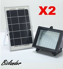 2X Bizlander® 5W60LED Solar Flood Light for Commercial Signage, Home Security