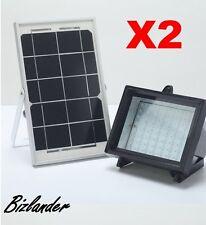 2X Bizlander® 5W60LED Solar Flood Light for Commercial Signage, Home Security