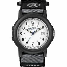 "Timex T49713, Men's ""Expedition Camper"" Nylon Watch, Indiglo, Date, T497139J"