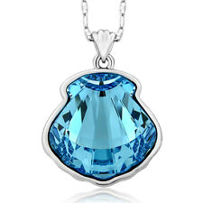 "Nirano Collection 1"" Blue Sea Shell Pendant Created with Swarovski® Crystals"
