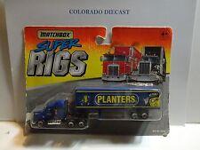 Matchbox Super Rigs Blue Planters Peanuts Semi Truck