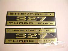 1964-1967 Chevelle Malibu El Camino Nova 327 Valve Cover Decal Aluminum Pair