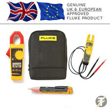 Fluke 325 Digital Clamp Meter + T5-600 Voltage & Continuity + 1AC + C115 Case