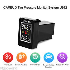 U912 TPMS Tire Pressure Monitor System + Internal Sensors LCD Display For Toyota