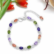 Fashion  Solid Silver Jewelry Crystal Bracelet/Bangle